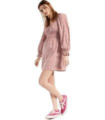 dizzy lizzy floral balloon-sleeve dress