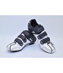 zapatillas para ciclismo de ruta smart ss ss0002r blanca