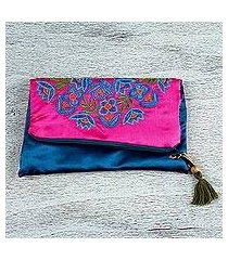 silk clutch, 'mandala party' (mexico)