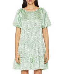 bcbgeneration puff-sleeve babydoll dress