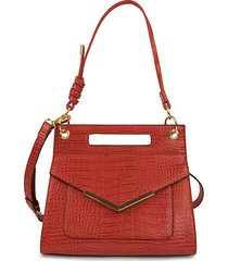 jacee triple handle embossed shoulder bag