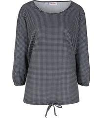 maglia lunga fantasia con maniche a 3/4 (nero) - john baner jeanswear