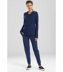 n-power zip hoodie coat, women's, blue, size s, n natori