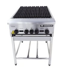 chapa grill industrial americana a gás venâncio cggp60 4q com cavalete