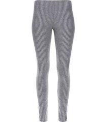 legging a rayas color gris, talla m