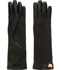 moschino teddy charm gloves - brown