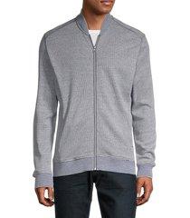 robert graham men's striped cotton-blend front-zip sweatshirt - blue - size xxxl