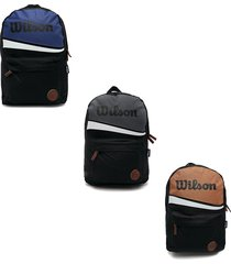 mochila deportiva wilson morral escolar estampado bolso