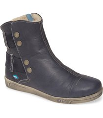 cloud aline bootie, size 10.5-11us in blue leather at nordstrom
