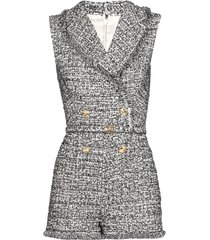 elisabetta franchi cotton tweed jumpsuit