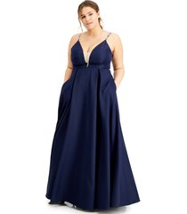 speechless trendy plus size beaded-strap gown