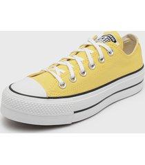 zapatilla amarillo converse