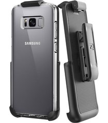 belt clip holster for spigen ultra hybrid back case - samsung galaxy s8 plus (by