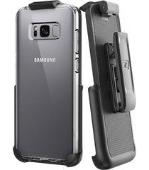 belt clip holster for spigen ultra hybrid back case - samsung galaxy s8 plus (by