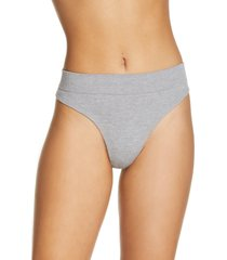 women's honeydew intimates bailey thong, size x-small - grey