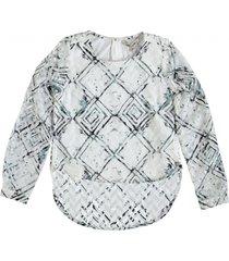 garcia gevoerde blouse off white