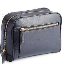 pebbled leather zip toiletry bag