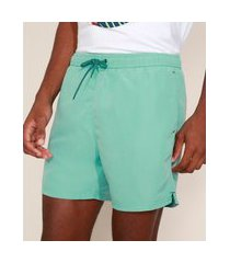 short masculino com cordão e bolsos verde claro