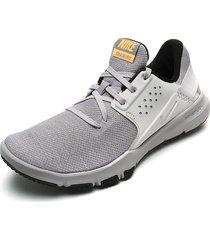 tenis training gris-blanco nike flex control tr3,