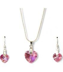 conjunto rosado swarovski crystals gloss crystal