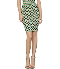 bcbgmaxazria alex geo-print knit pencil skirt