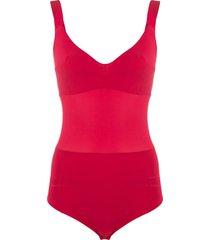 murmur grid fitted bodysuit - red