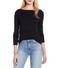 women's halogen bateau neck sweater