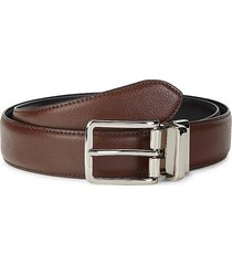 cole haan men's reversible leather-top belt - brown black - size 42