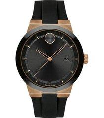 reloj movado 3600622 negro silicona hombre