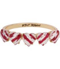 betsey johnson peppermint heart bangle bracelet
