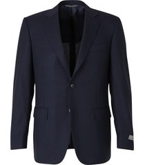 straight fit wool blazer