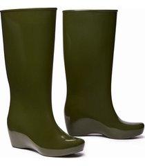 botas de lluvia impermeables stretch  mujer verde militar