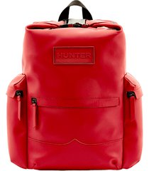 original top clip backpack - rubberized leather
