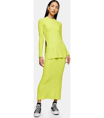 *neon yellow chenille skirt by topshop boutique - yellow