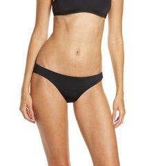 women's frankies bikinis taylor bikini bottoms, size x-small - black