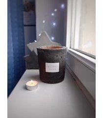 duża świeca zapachowa, beton christmas punch
