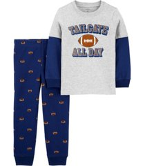 carter's baby boy 2-piece football layered-look tee & jogger set