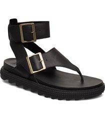 roaming™ t-strap shoes summer shoes flat sandals svart sorel