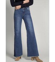 jeans flare denim indigo vintage liola