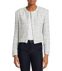 makilo chevron tweed jacket