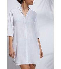 calzedonia oversized shirt dress woman white size l