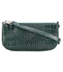 by far bolsa tiracolo rachel com efeito de pele de crocodilo - verde