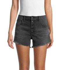 joe's jeans women's high-rise denim cutoff shorts - fernie - size 30 (8-10)