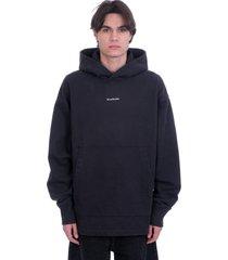 acne studios frankin h stamp sweatshirt in black cotton