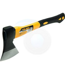 carbon steel 21oz 600g hatchet axe fiberglass body rubberized handle