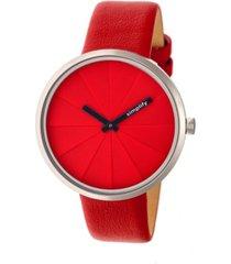 simplify quartz the 4000 genuine red leather watch 43mm