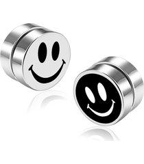 orecchini da uomo magnetici stile no fermaglio in acciaio inox con clip rotonda per orecchini