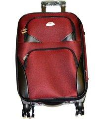 maleta de lona s2 mediana 24pulgadas- vinotinto unicolor