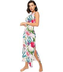 mc2 saint barth long tank dress floreal print