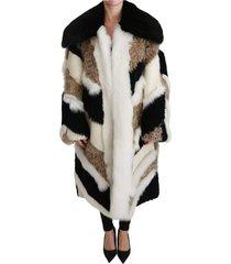 schapen fur shearling cape jacket jas